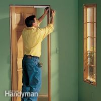 We show you how to make crisp, sharp corners and tight joints when installing door trim, window trim and a three-piece baseboard. With a few basic carpentry too
