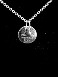 I Love You To The Moon and Back Silver Charm Necklace $5.00