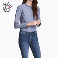 Must-have Vogue Long Sleeves Stripped Summer Blouse - Bonny YZOZO Boutique Store