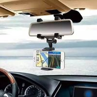 2017 360 Degree Car-styling Rearview Car Phone Holder Mirror Mount Holder $22.37