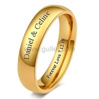 Customized Mens Wedding Band 5mm Gold Plated Titanium https://www.gullei.com/customized-mens-wedding-band-5mm-gold-plated-titanium.html