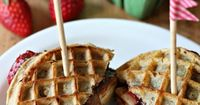 Neopolitan Grilled Waffle Sandwiches.