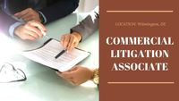 A highly-regarded, young, growing boutique law firm is seeking an Associate level attorney with experience in Commercial Litigation to add to their Delaware office.
