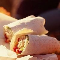 LOW-FAT CHICKEN WRAP-UPS Warm or cold, these are great for breakfast, lunch or dinner...