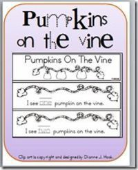 Lots of fall printables for pumpkins, leaves, and scarecrows