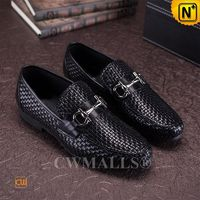 [Father's Day Gift] CWMALLS® Los Angeles Handmade Woven Leather Loafers CW708115
