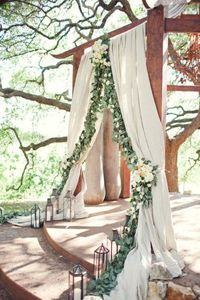 draped ceremony backdrop