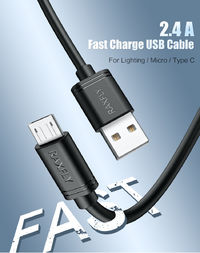 RAXFLY 2.4A Micro USB Fast Charging Data Cable 0.3M For Xiaomi Redmi Note 5 6 S7 Camera MP4