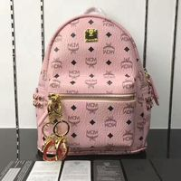 MCM Small Stark Side Odeon Studs Backpack In Light Pink