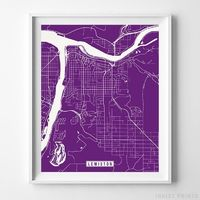 Lewiston, Idaho Street Map Vertical Print by Inkist Prints - Available at https://www.inkistprints.com