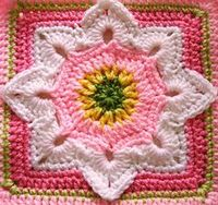 Eight Pointed Flower by Julie Yeager