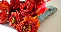 25 Best Autumn Leaf Crafts Roses from leaves