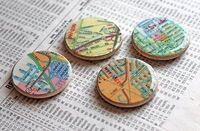 Shiny map magnets
