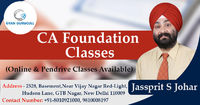 Gyan Gurucull runs complete CA Foundation Classes by Jassprit S Johar. We provide regular classroom and online both classes according to the student's convenience and tell about how to qualify the exam in the limited time period. Know more Call +91-...