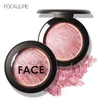 FOCALLURE Natural Face Pressed Blush Makeup Baked Blush Palette Baked Cheek Colors Cosmetic Face Shadow Press Powder $19.49