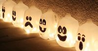 Milk jug luminaries