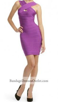 Close this view. (695 x 435) Add to Postboard Cheap Crisscross Bandage Bright Violet Dress Outlet