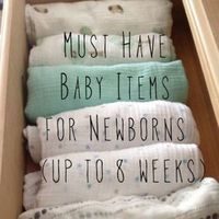 Must Have Baby Items for Newborns (up to 8 weeks)