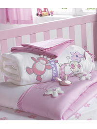 Goochicoo Bunny Girl Cot and Cot Bed Nursery Bedding Bale A huge dollop of cuteness for your little ones bedroom, Bunny Girl from Goochicoo offers a whole new world of baby stuff with style! Set amongst quirky flowers, candy pinks, refreshing whites and h...
