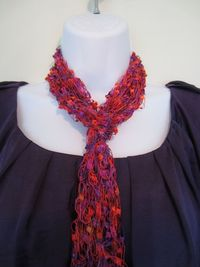 Love Knot Scarf with Fringe in by Bluetulipgifts on Etsy, $19.99