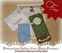 Free Personalized Letters from Santa Program - Enchanted Homeschooling Mom