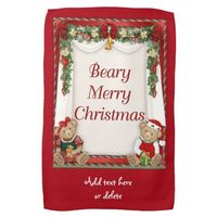 Beary Merry Christmas Kitchen Towel