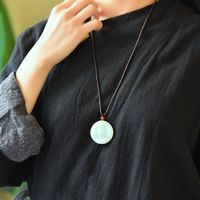 Hotan jade Animal necklace-gifts for women