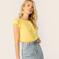 Casual Short Sleeve Solid Summer Blouse $22.99