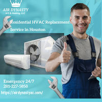 Residential HVAC replacement service in Houston | The coolest HVAC team around. Our residential services include HVAC repair, installation, and replacement of the system. Air Dynasty is the local company in Houston that provides these services with flexi...