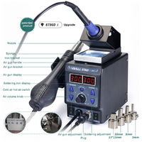 YIHUA 8786D-I 2 In 1 Soldering Solder Rework Station Iron ESD Iron Welding Machine