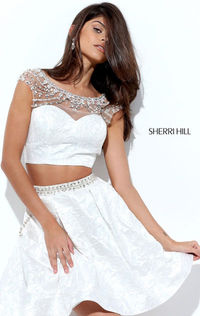 A-Line Dress For Homecoming Cap Sleeves Sherri Hill 50499