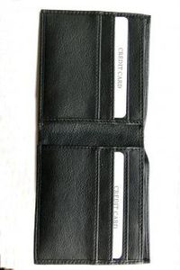 Sophos Black leather wallet. This stylish and compact wallet has slots for 6 cards, plus 2 further pockets for more cards. http://www.comparestoreprices.co.uk/mens-clothing-accessories/sophos-black-leather-wallet-.asp