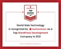 Top rated WordPress Development Company World Web Technology is recognized by Techreviewer as a Top WordPress Development Company in 2021.