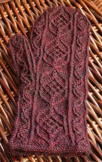 Austrian Mittens by Persnickety Knitter, via Flickr | I love that stitch pattern! I wonder what it would look like in bulky yarn... hmm.