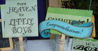 cute photo booth props for #babyshower