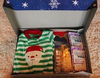 It's a Christmas Eve box :) They get new pjs, a Christmas movie, hot chocolate, snacks for the movie, etc!