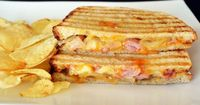 The best panini of my life! Caramelized Onion Ham and Cheese Panini