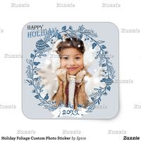 Holiday Foliage Custom Photo Sticker