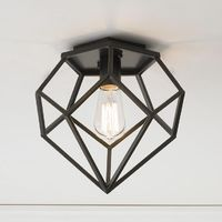 Young House Love Geometric Diamond Ceiling Light This Young House Love diamond-shaped ceiling light has modern style. Use it with a vintage-style Edison bulb for a retro feel or one of our energy-saving bulbs for green living. Bronze.