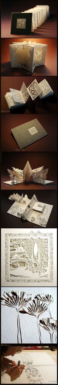 paper carving in accordion book from duitang.com -- Find more designs & inspiration at http://rushtips.com