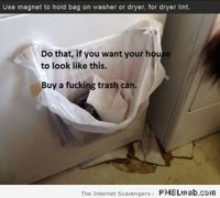 Funny dryer lint life hack