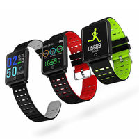 XANES F3 1.44'' Color Touch Screen IP67 Waterproof Smart Watch Heart Rate Monitor Pedometer Fitness Smart Bracelet
