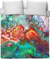 Marbled Effect Duvet Cover $120.00