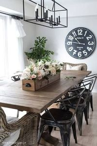 Image result for farmhouse style.dining