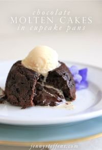 How To Make Chocolate Molten Cakes in a Cupcake Pan Ingredients: 3/4 cup of butter 12 ounce of chocolate chips 1/2 cup of heavy crea...