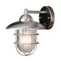 Bel Air Lighting Stainless Steel Outdoor Wall Light with Clear Glass