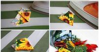 tutorial prairie points hot pad. Cute, but would be time consuming.
