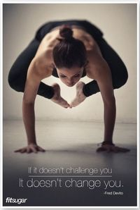 So true... still, this is the pose that landed me in the ER... LOL Moderation in all things!!!