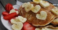 Pancakes!! My daughter would love the heart shaped fruit!!