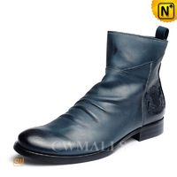 CWMALLS® Wrinkled Leather Dress Boots CW726502